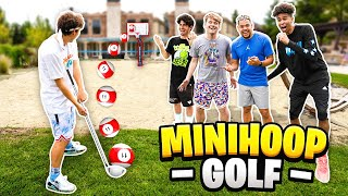 INSANE Mini-Golf TRICKSHOT Basketball