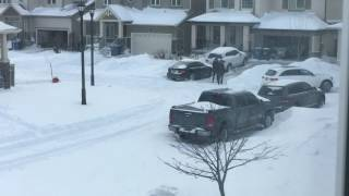 Mercedes GLC stuck In Snow