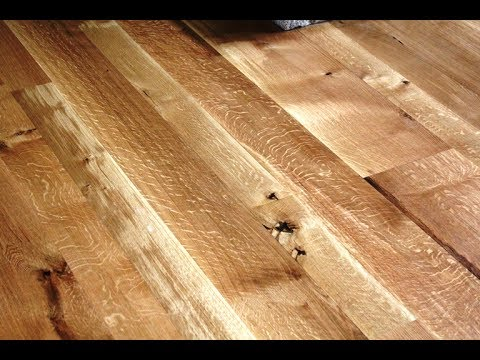 Wide Plank Quarter Sawn White Oak Floor You
