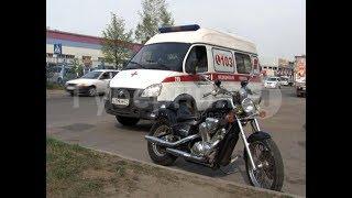 Мотоциклист врезался в микрогрузовик в Хабаровске и попал в больницу. MestoproTV