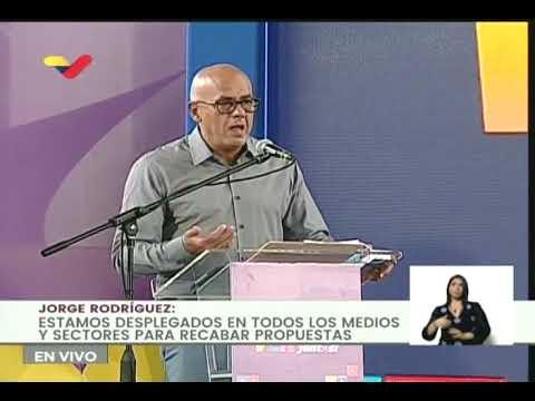 Jorge Rodríguez presenta página web venvamosjuntos.org.ve para recibir propuestas para candidatos