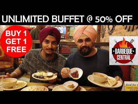 1 + 1 FREE OFFER | UNLIMITED BUFFET | BARBEQUE CENTRAL | VEG AND NON-VEG UNLIMITED FOOD