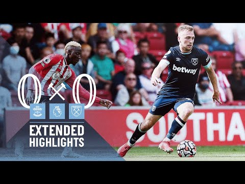 EXTENDED HIGHLIGHTS |  SOUTHAMPTON 0-0 WEST HAM UNITED