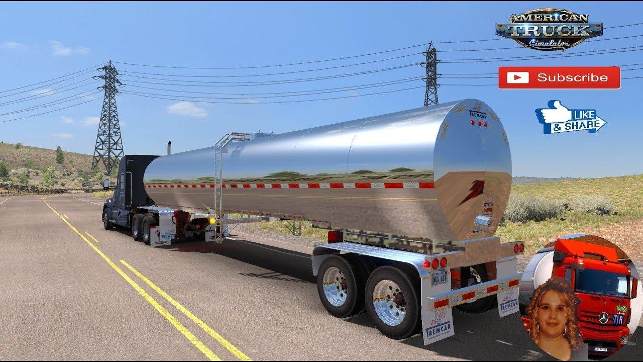 American Truck Simulator (1 34) Tremcar Milk Trailers Ownable ATS 1 34 x  DLC Oregon + DLC's & Mods