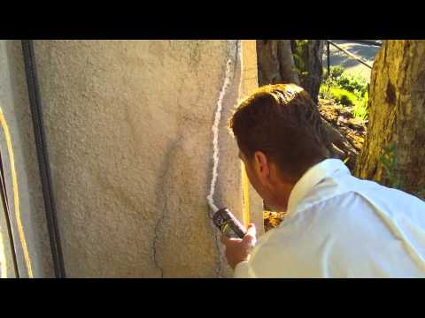 How to fix cracks in stucco YouTube