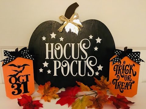 DIY Dollar Tree Fall Decor turned into Halloween Decor