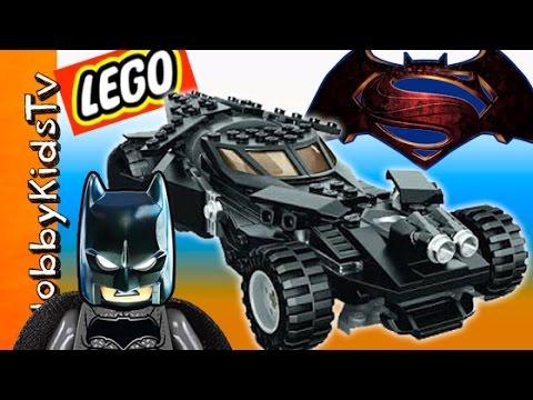 New Batman vs Superman Lego BATCAR Build! Robot JOKER Dance Competition By HobbyKidsTV