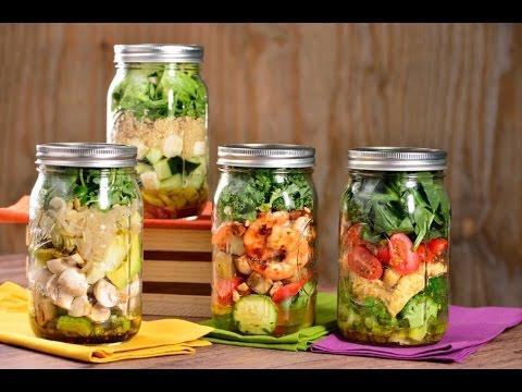 ensaladas para llevar en mason jars ricas y rpidas