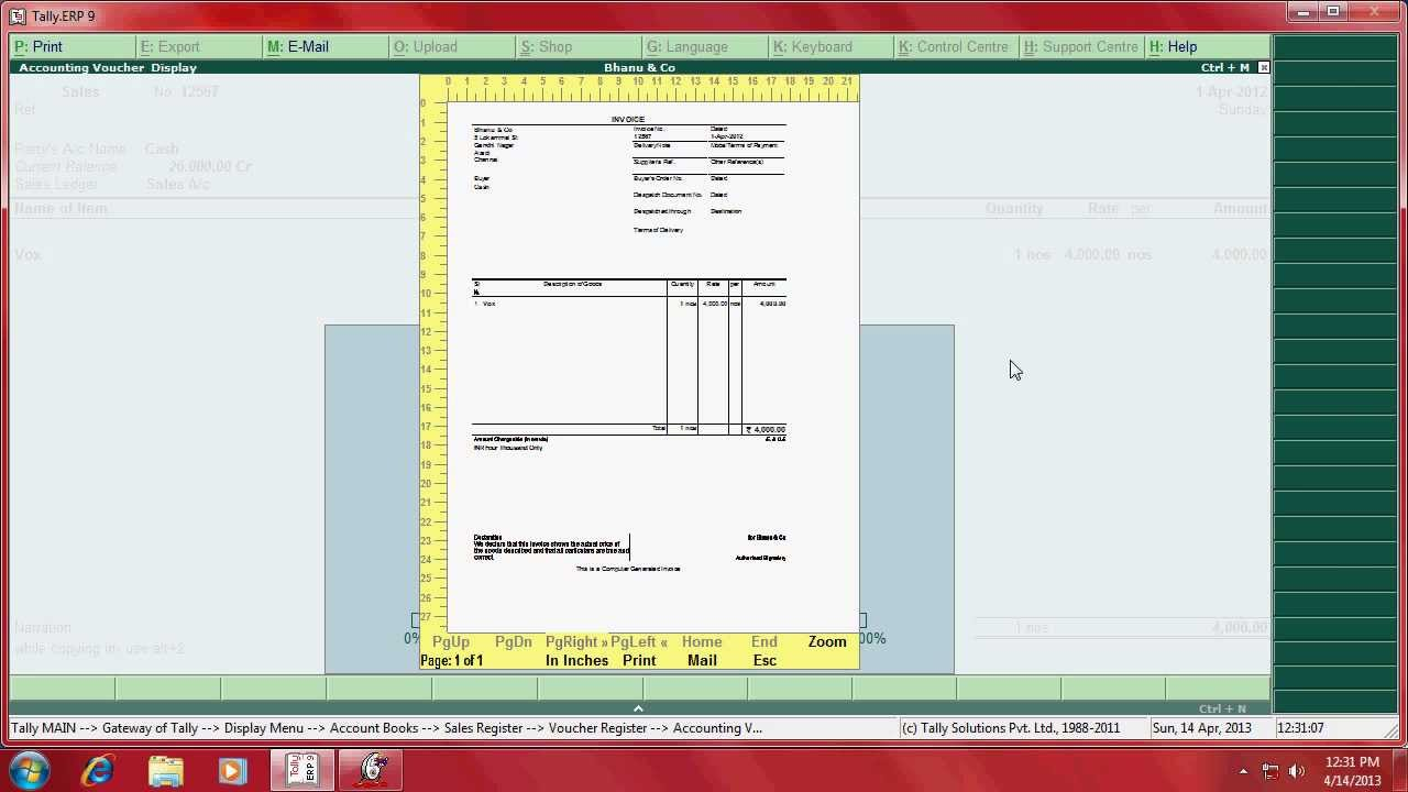 Nice Invoice Template Pdf How To Set Voucher Number And Copy Invoice In Tallyerp  Youtube Rent A Car Invoice with Invoice Mac Excel  How To Confirm Receipt Of Email Excel