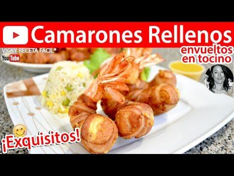 CÓMO HACER CAMARONES RELLENOS |  Vicky Receta Facil