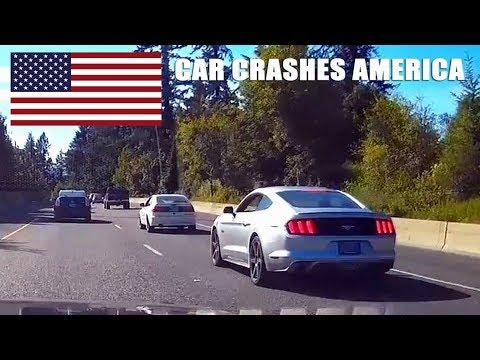 CAR CRASHES IN AMERICA #25   BAD DRIVERS USA, CANADA
