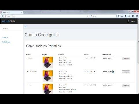 Carrito de compra Gratis!!! PHP (CodeIgniter),Shopping Cart Free !!! PHP (CodeIgniter)