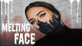 melted face makeup look