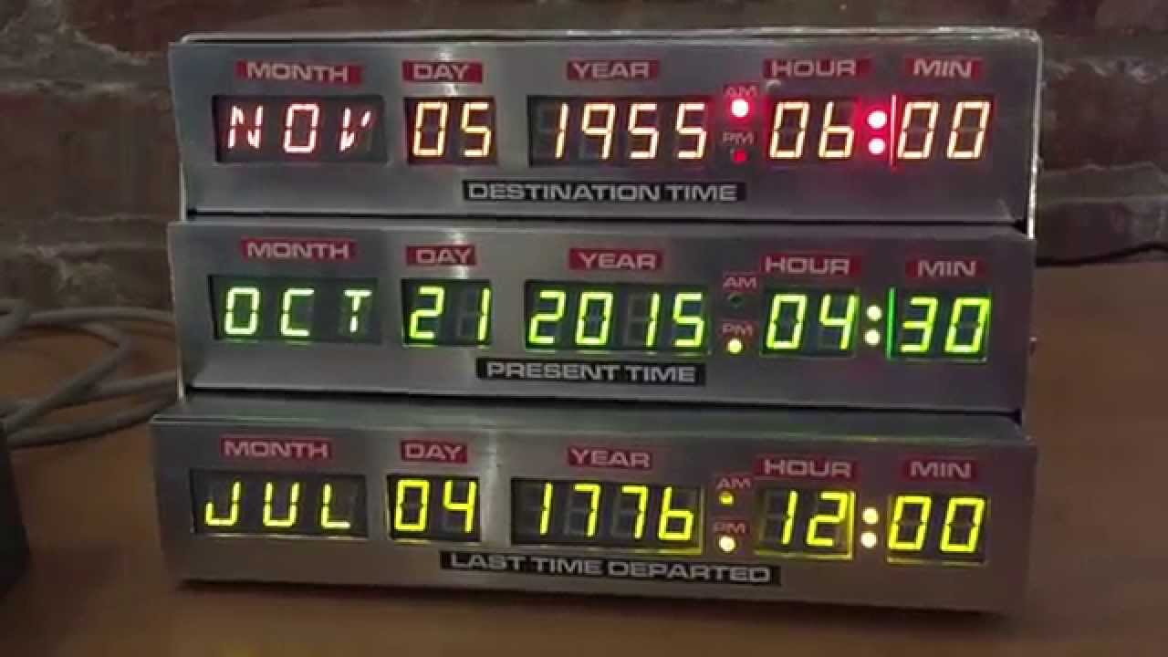 Diy Bttf Time Circuits Alarm Clock Youtube
