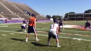 Demon 7 on 7  with Stephen Rivers and Matt Flores in backfield 8-5-15
