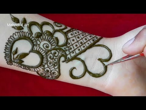 Latest Simple Mehndi Designs For Front Hands