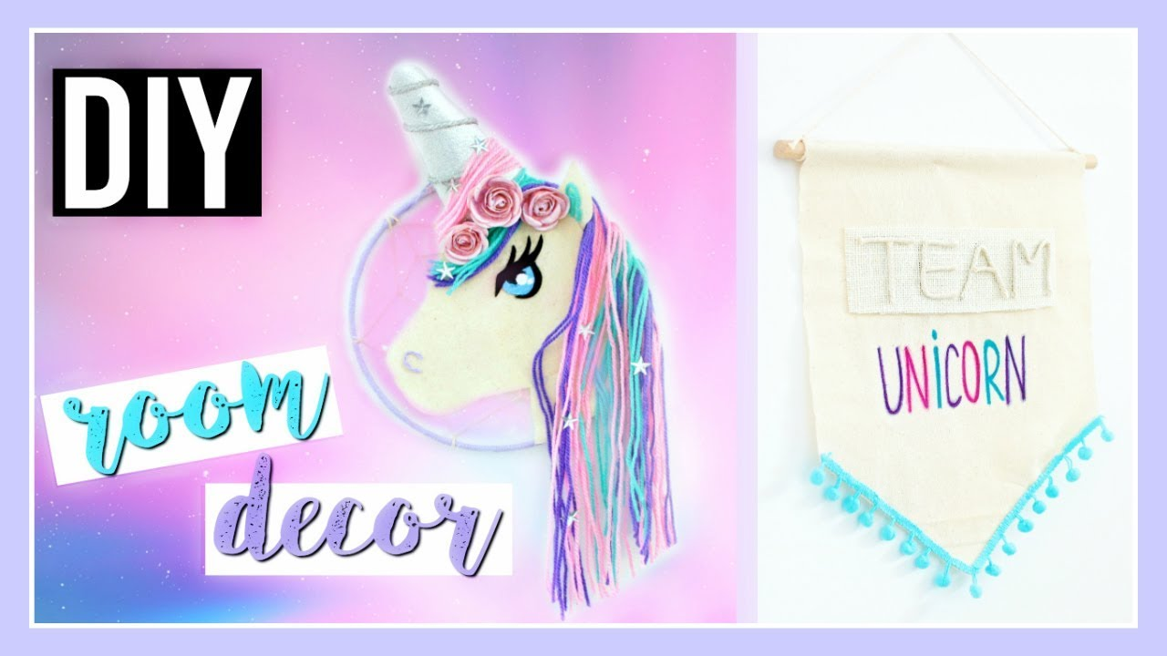 Diy Licorne Deco Chambre Kawaii Facile Unicorn Room Decor