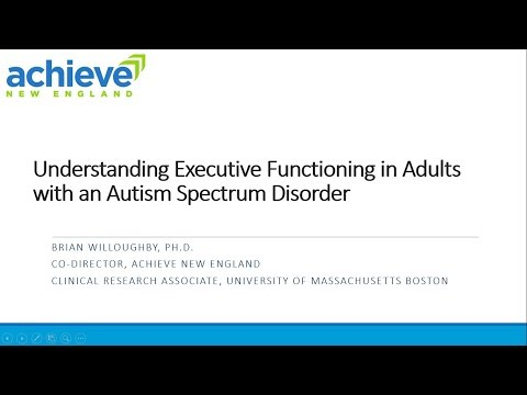 Understanding Executive Functioning in Adults with Autism Spectrum Disorders