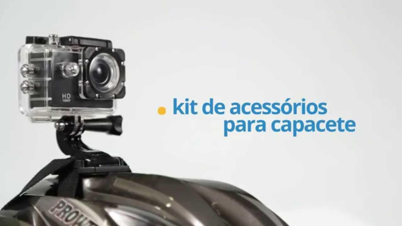 7e1f69ef6d Como montar  Câmera de Ação Full HD ONN - Acessórios para Capacete - YouTube