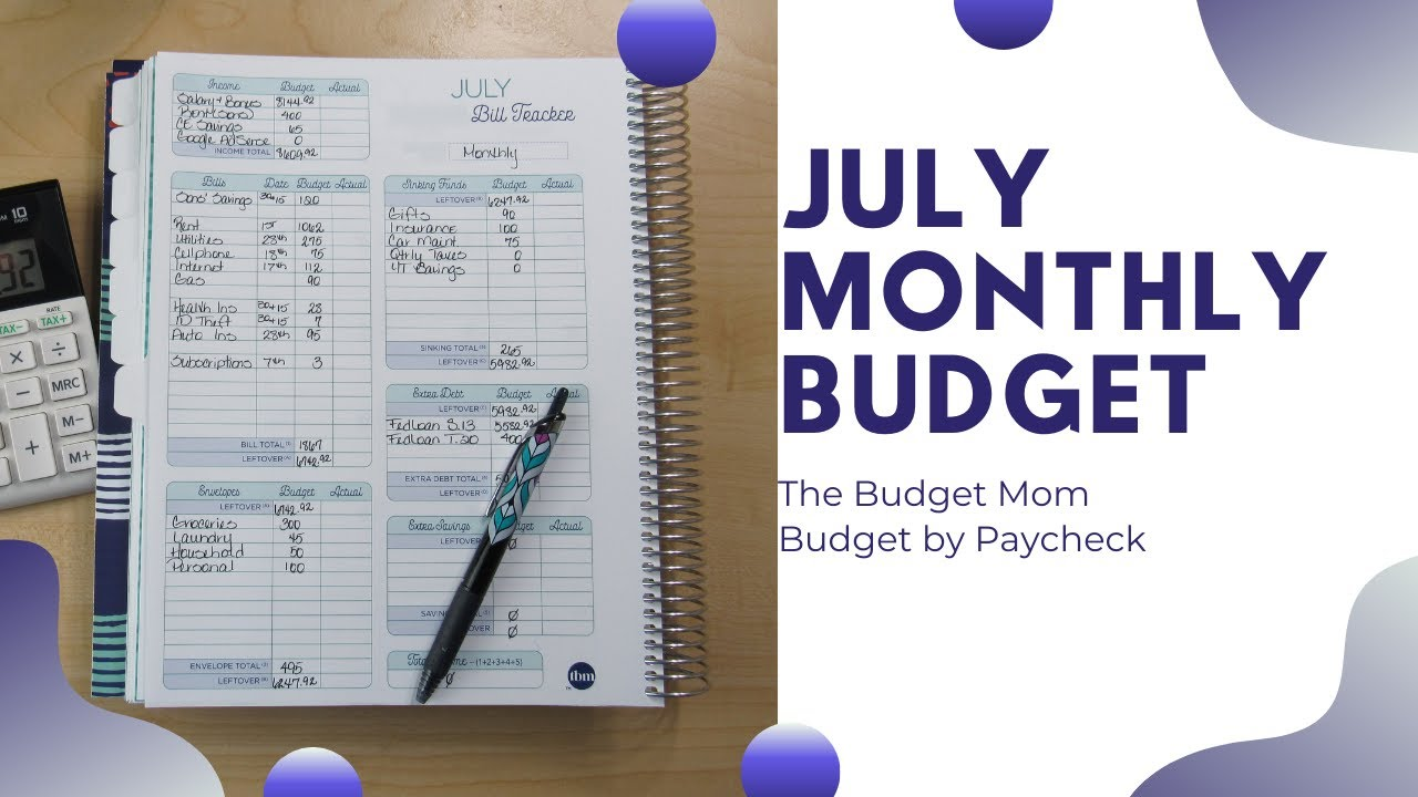 Budget with Me| July 2021-Monthly Budget Real Numbers| Debt: $21,257.08