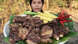 របៀបប្រឡាក់សាច់គោអាំង Grilled beef ribs recipes
