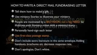 How to write a direct mail fundraising letter