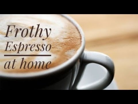 Frothy Espresso Coffee At Home Without Coffee Makercoffee Machine Cooking Without Fire
