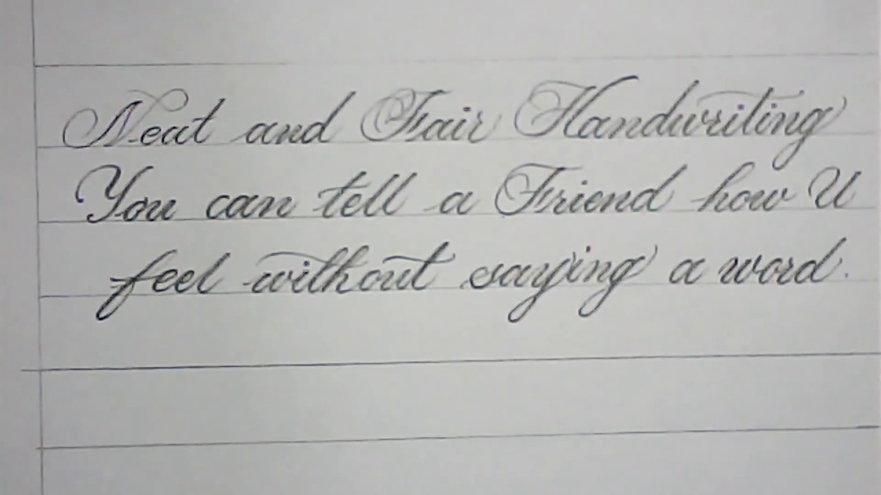 How To Write Good Handwriting Like Print