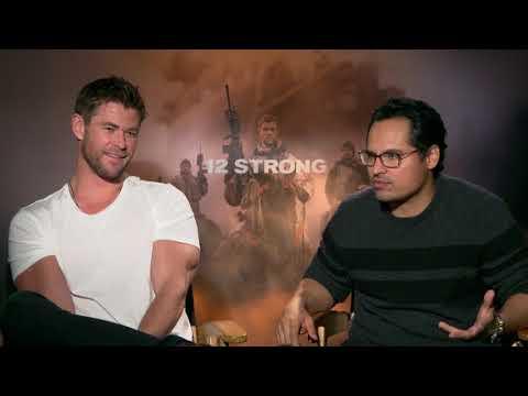 Chris Hemsworth & Michael Pena Interview 12 Strong