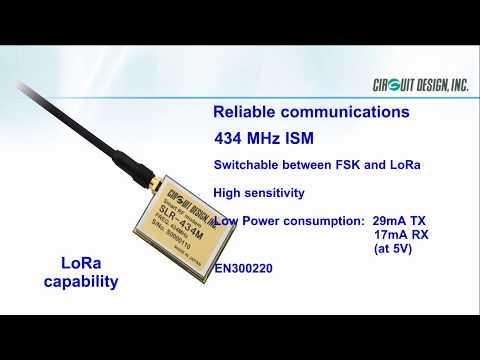 Low Power Long Range Radio Modem, SLR-434M