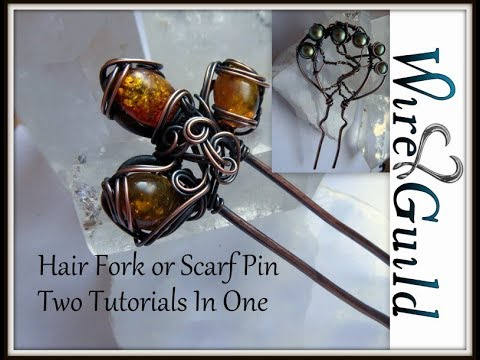 Cab and Tree Hair Fork Wire wrap tutorial