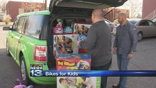 Cricket partners with local nonprofit, donates bicycles for kids