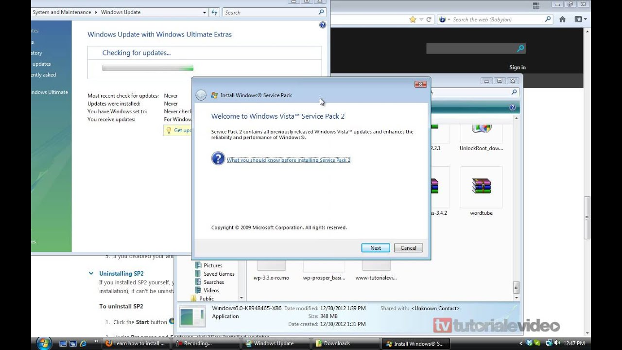 cum se instaleaza service pack 2 pe windows vista manual youtube rh youtube com Windows Vista Desktop Windows Vista Business