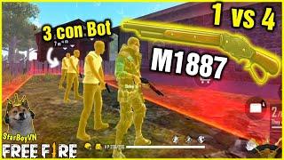 (Free Fire) Fan thách chỉ dùng M1887 Shotgun 1 vs 4 trong Tử Chiến và cái kết | StarBoyVN