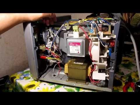 Как разобрать микроволновку lg видео