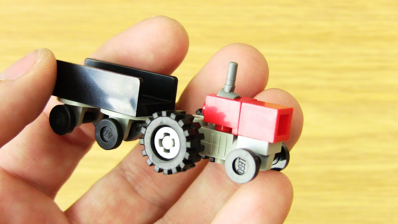 How to create a Small Tractor with Flatbed Lego Toy