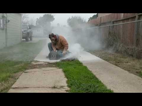Footage Cutting Concrete Sidewalk With Angle Grinder Amp 14