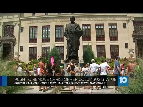 Protest in Columbus Ohio Calls for Removal of Christopher Columbus Statue