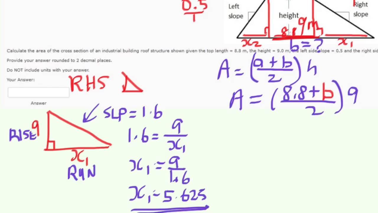 Elearn Isu,02 Question 10 Area Of A Trapezoid With Slopes Given 6th Grade  Math Calculating