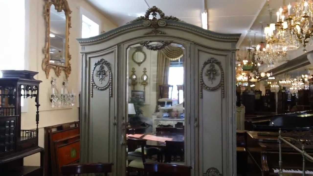 French Louis XV Armoire Video