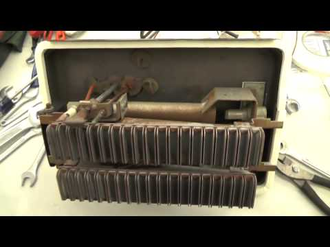 1987 Dayton Wall Furnace Burner Cleaning & Replace Thermocouple