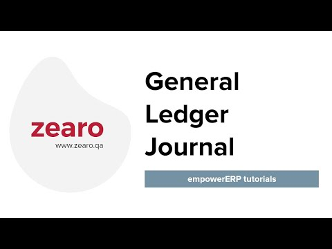 General Ledger Journal - Cloud Empower ERP for Qatar