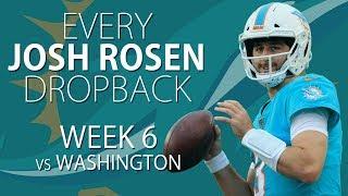 Every Josh Rosen & Ryan Fitzpatrick Dropback - Week 6 vs Redskins