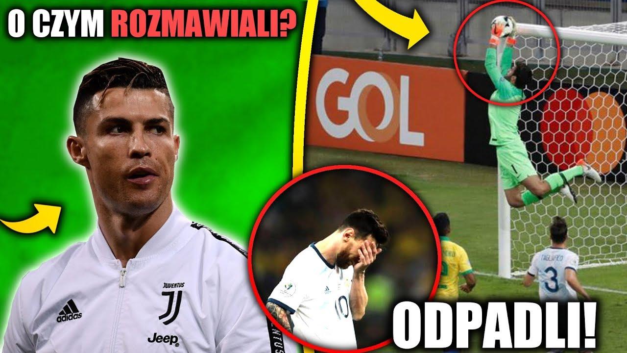 99e047d42 Tajne spotkanie Cristiano Ronaldo! Alisson zatrzymał Messiego! Argentyna  ODPADA!