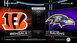 MADDEN NFL 15 PS4 Full Gameplay: Bengals vs Ravens - Week 1 NFL Regular Season Matchup Simulation