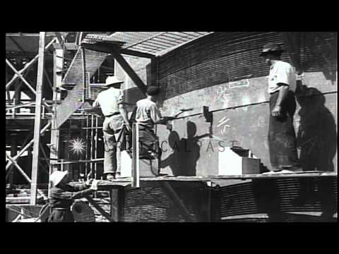 British newsreel detailing crude oil extraction and refinement efforts in Persia ...HD Stock Footage