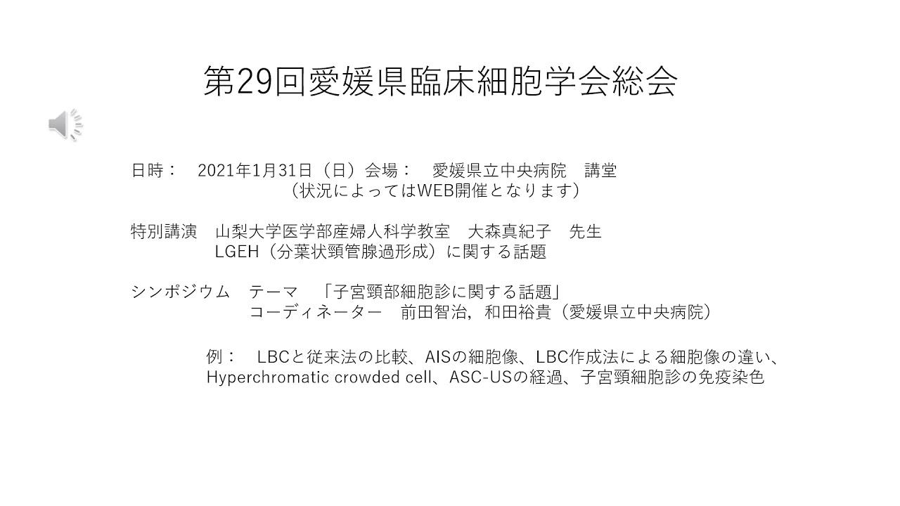 29回愛媛県臨床細胞学会総会