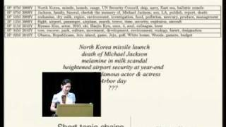 Topic Models Applied to Online News and Reviews(Google Tech Talk August 11, 2010 ABSTRACT Presented by Alice Oh. Probabilistic topic models are useful for uncovering the underlying semantic structure of a ..., 2010-08-13T02:32:11.000Z)
