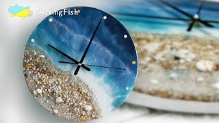 Ocean Clock from Resin - Step by Step Resin Tutorial | Resin  Art