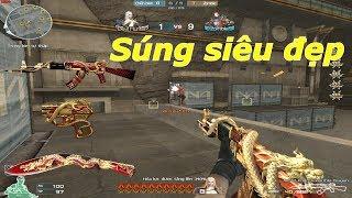 Set súng đẹp nhất CF : AK-47 Invincible Dragon - Tiền Zombie v4